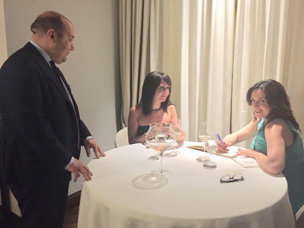Silvia Rossi cena da Pipero