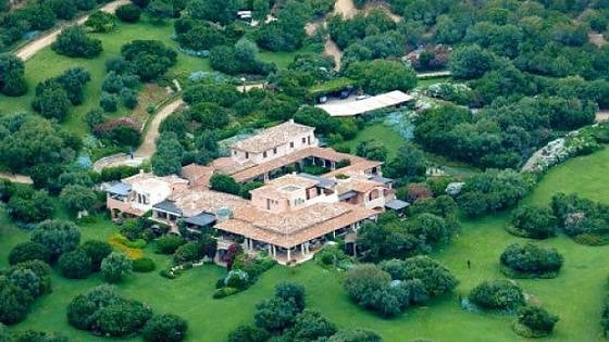 Villa Certosa vista aerea
