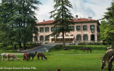 Giorgio Armani apre le porte di Villa Rosa