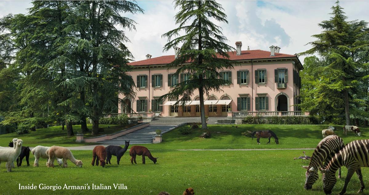 Villa Rosa di Giorgio Armani - veduta esterna